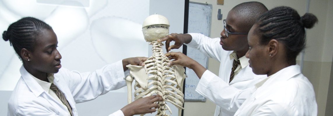 student and back skeleton